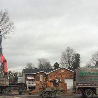 Crane removal with setup